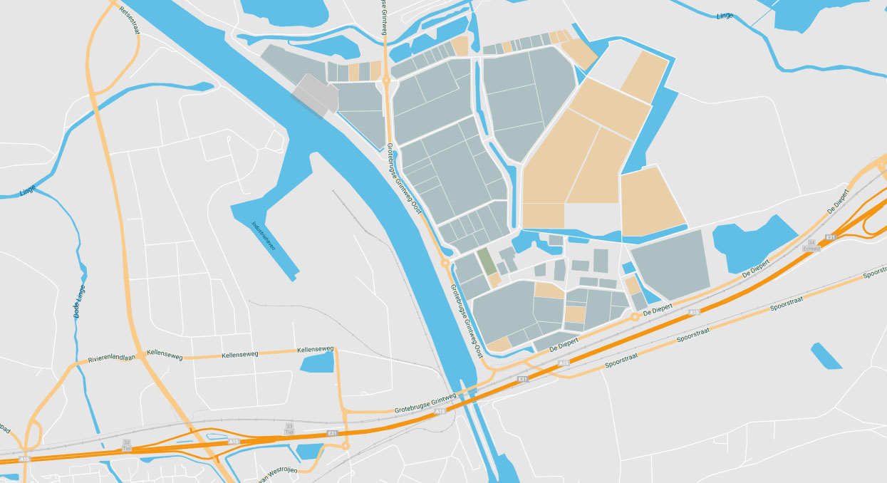 Bedrijvenpark Medel Kavel kaart