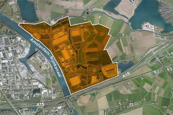 Bedrijvenpark Medel ligging
